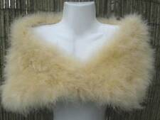 Champagne/Sand Coloured Marabou Feather Shrug/Wrap/Stole - Ideal Gift For Her