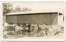RPPC NY Rexleigh Covered Wooden Bridge Washington County