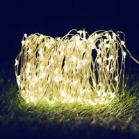 Outdoor String Lights 100 LED Copper Wire Fairy Light Home Garden Patio Decor