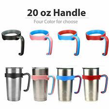 2 PCS 20 oz Handle for RTIC Yeti Ozark Trail Rambler Tumbler Travel Cup Holder