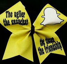 Cheer Bow - Snapchat Glitter Cheer Bows
