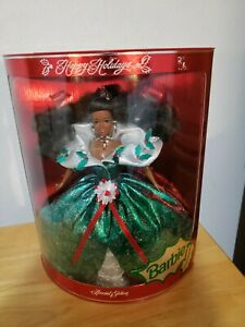 1995 Happy Holidays African American Barbie- Special Edition- Mattel #14124