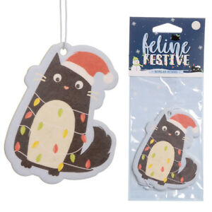 Festive Feline Lights Cat Nutmeg Scented Fragrance Car Bus Hanging Air Freshener