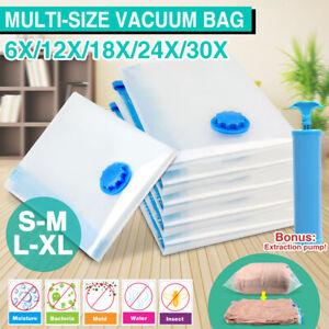 Vacuum Space Saver Bags Storage Seal Compressing Organizer for Clothes Quilt AU