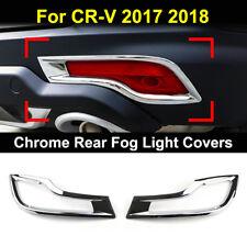 For Honda CR-V CRV 2017-2018 Chrome Rear Fog Light Cover Trim Bumper Frame Bezel