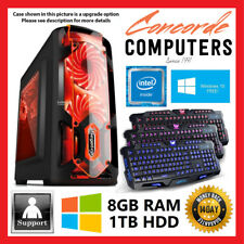 Intel Dual Core | 8GB | 1TB | Gaming Computer System Office Desktop PC i3 i5 i7