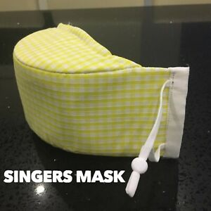SINGER MASK - CHOIR MASK - COTTON FACE MASK FOR SINGING  -SINGERS MASK- HANDMADE