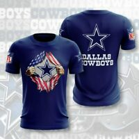 Dallas Cowboys Football T Shirt Men's Casual Short Sleeve Tee Athletic Fit S-5XL
