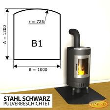 Kaminbodenplatte Funkenschutz ✔ Ofenplatte ✔ Kaminofenplatte ✔ Stahl schwarz B1