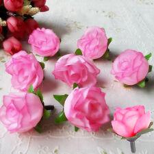 50Stk/Set 3cm künstliche Seide Rosen Köpfe Hochzeit Blumendekoration Blumen Neu