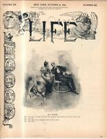 1892 Life October 20-First Whittier dies, then Alfred Lord Tennyson; Organ Grind