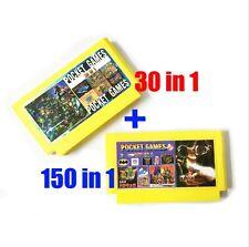 Famicom-Famiclone 30in1+150 in 1 60Pin 8Bit Rockman, Castlevania,