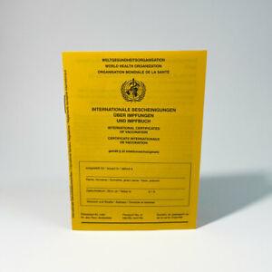 Impfpass 2021 WHO zertifiziert - Impfbuch Impfausweis International
