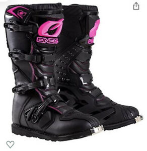 O'Neal 0325-708 2018 Rider Women's Boots US 09, Black/Pink