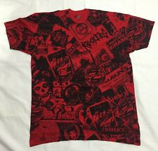 Rockers NYC Punk Rock RAW POWER Red Black Bowie CONFLICT MADE USA SLIM FIT Sz XL