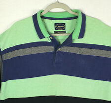 New listing ARROW Vtg Green Blue Striped Rugby Polo Short Sleeve SHIRT Streetwear MEN'S XL