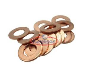 50 PCS New Multiple Metric Copper flat gasket sealing ring Crush washer for boat