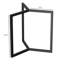 Coffee Table Base Metal Steel Legs 45cm tall Black Pedestal End Tables Hand Made