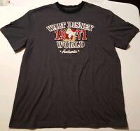 Walt Disney World Parks Authentic 1971 Grumpy Dwarf Gray Shirt Lg Embroidered