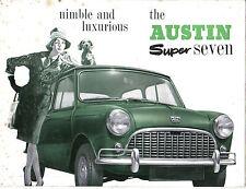 Austin Mini Super Seven Original UK Sales Brochure No. 2050 not dated
