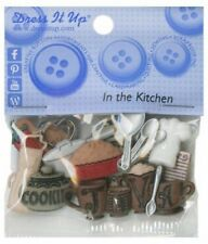 Jesse James Dress it up Buttons IN THE KITCHEN 338  2 Packages  FREE US SHIPPING