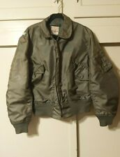 VTG 80s? USAF Flyers CWU-36P Faded Distressed Jacket Size L Alpha Industries