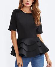 Maglia Manica Corta con Balze Donna Woman Short Sleeve T-shirt 561044 P