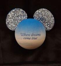 CUTE Disney Blue Glitter WHERE DREAMS COME TRUE WDW Antenna Topper Mickey Ears