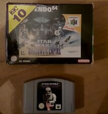 N64 STAR WARS SHADOWS OF THE EMPIRE - Nintendo 64 Game - Good Condition