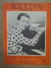 song sheet MEXICO Tony Osborne 1961