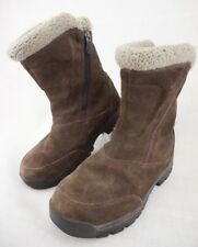 Sorel Water Fall NL1964-238 Insulated Brown Suede Winter Boots Women's 7