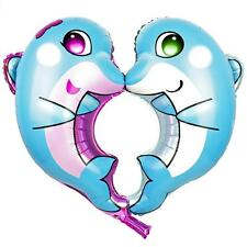"""38"""" x 26"""" KISSING DOLPHINS FOIL Balloon - Anniversary Valentine's Wedding Party"""