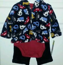 Little wonders boys outfit 3 piece wubby hoodie set NWT..size 3-6 month.........