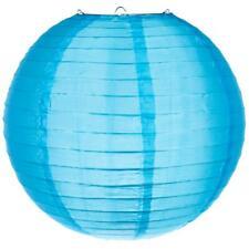 "18"" Sky Blue Nylon Lantern, Durable Hanging Decoration"