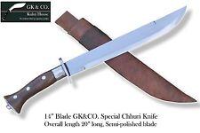 "14"" Blade Traditional Nepali Machete- Chhuri, kukri, khukuri, knives, by GK&CO."
