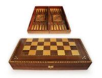 Neu 50 x 50  cm, Holz Backgammon-Schach, Dama, Brett,oder Figuren oder Steine