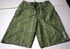 Mens Speedo Swim Trunks Size 16 Mesh Lined    Green Plaid