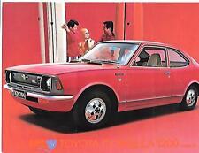 TOYOTA COROLLA 1200 COUPE SL SALES 'BROCHURE'/SHEET 1973