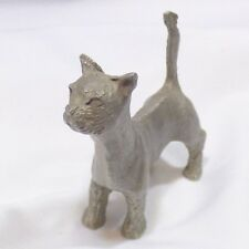 Vtg P Davis Pewter 1976 Cat Miniature Kitty Alley Crazy Cat Lady Collectible