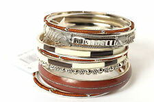 Women's Fashion Bohemian Brown  Bangles Bracelet Set Brown/Multi