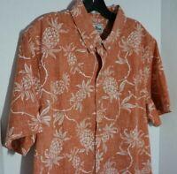 NEW Men's Reyn Spooner Tropical Print Aloha Hawaiian Shirt  MSRP:$108 NWT  Large