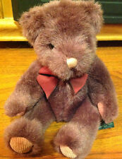 "Plush Russ Berrie Plum Color ""Teddy"" #259 Collectible Great Condition"