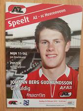 Programme / Programma AZ Alkmaar v SC Heerenveen 26-02-2012