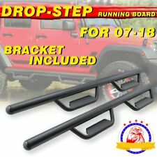 NERF BARS RUNNING BOARDS SIDE STEPS FOR 07-18 JEEP WRANGLER JK 4 DOOR 3