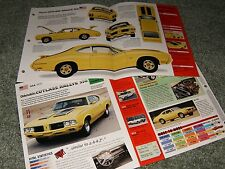 RARE-1970 OLDS CUTLASS RALLYE SPEC INFO POSTER BROCHURE 70 YELLOW OLDSMOBILE