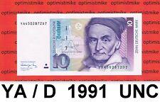 (90) 10 DM YA/D 01.08.1991 UNC Deutsche Mark