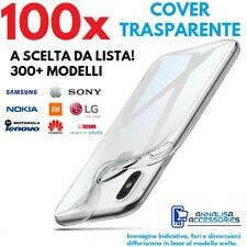STOCK LOTTO 100 COVER CUSTODIE TRASPARENTI PER GALAXY HUAWEI XIAOMI IPHONE ASUS