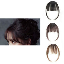 Womens Mini Fake Hair Clip Air Bangs Wig Thin Translucent Invisible Wigs Beauty