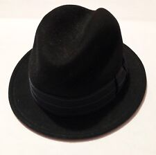 55187b15e6b Bailey Of Hollywood Mens 100% Wool Fedora Hat Black Size Small