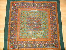 AUTH HERMES  `Chasse en Inde` GM Cashmere Shawl